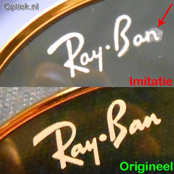 Optiek.nl Ray Ban Logo Glas