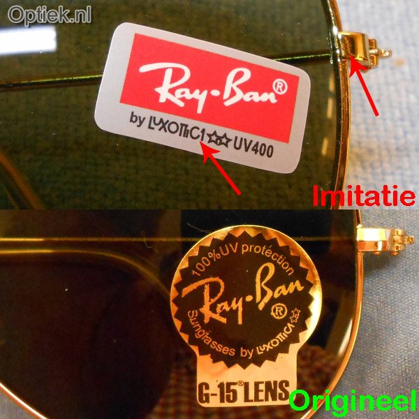 Optiek.nl Ray Ban Sticker